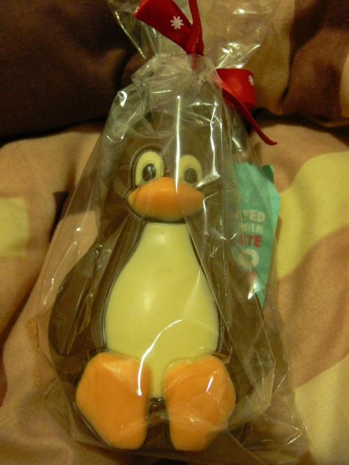 Pingüí de xocolata del Mark & Spencer